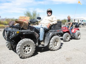 ATV'ers at the store on Route 60