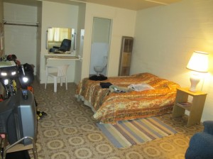 Motel room interior
