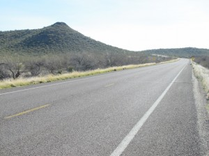On Route 60, passing Black Mountain