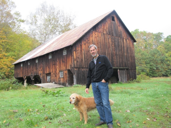 The roof on the 1812 barn at Leonard Farm will hold a solar electric array by mid-2013.