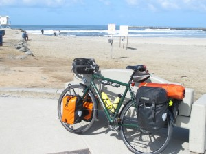 Loaded bike at Ocean Beach Park