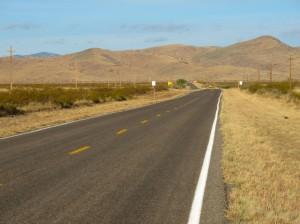 Route 152 nearing Caballo Reservoir