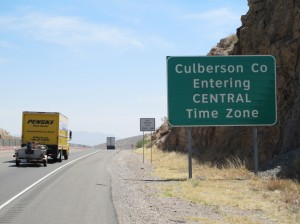 Entering Central Time Zone