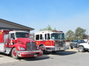 Fire trucks from others town and cities