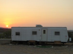 The trailer I slept in last night