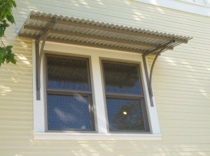 Simple fixed awnings