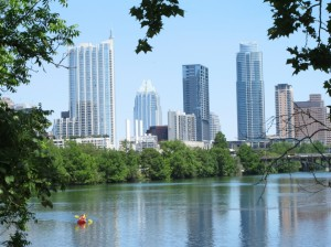 Austin from across the water