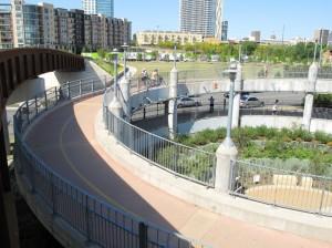 Spiral ramp to Pfluger Bridge