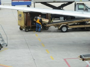 Loading baggage at BWI